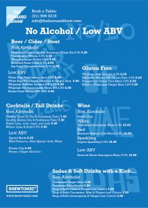 Bernard Shaw Drinks Menu A3-02