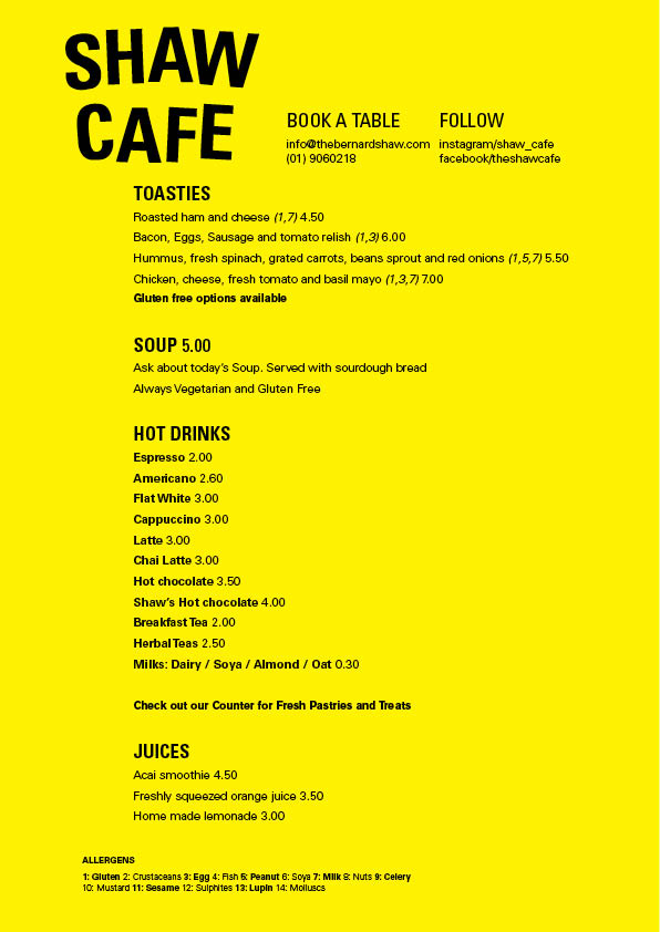 Shaw Cafe Menu Web5